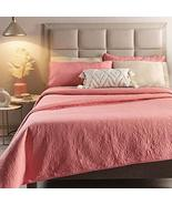 Coral and Beige Reversible Ultraslim Comforter King Size 1PC - $73.66