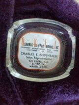 Osborne Kemper Thomas Advertising Lititz Pennsylvania Glass Ashtray - $8.00