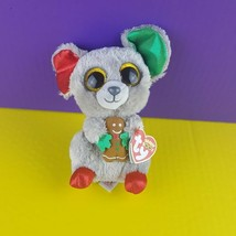"""Ty Mac Mouse Beanie Boo 6"""" Plush Stuffed Toy Christmas Edition 2016 With... - $17.82"""