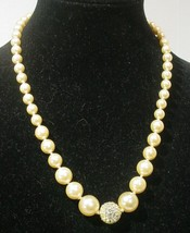 Joan Rivers  White Beaded Necklace - $14.84