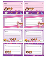 Rina & Dina 8 STICKER NAME LABELS ~NEW~ - $4.89