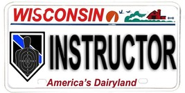 Wisconsin Aluminum NOVELTY License Plate - Firearms instructor B27 - $12.82