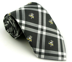 Pittsburgh Penguins Men's Necktie Licensed NHL Ice Hockey Black Neck Tie - $31.68