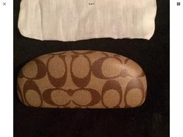 Coach Case Sunglasses Eyeglasses Brown Medium Clamshell Hard W/Cloth & L... - $10.99