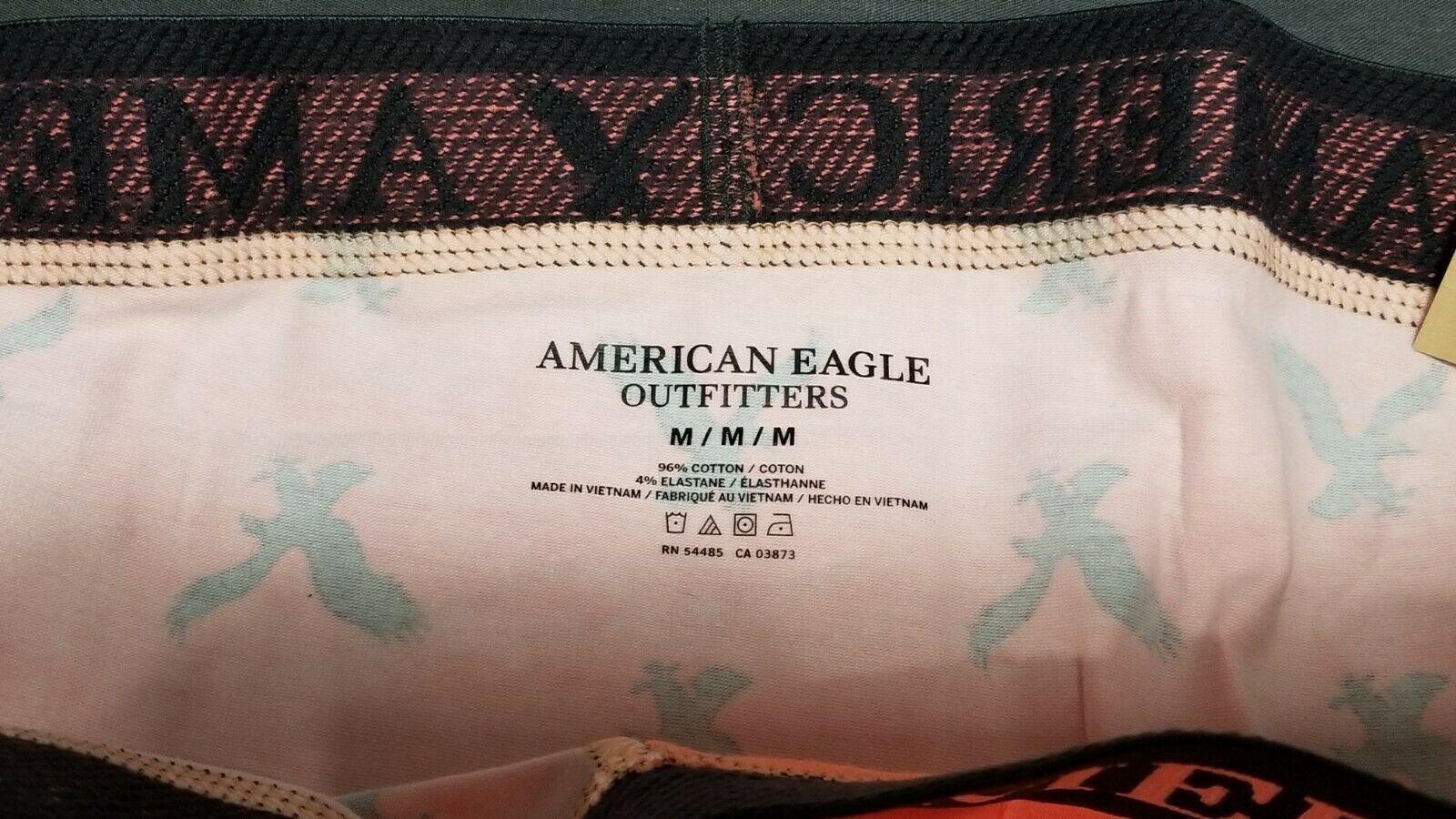 NEW AE Men's Low Rise Cotton Stretch Boxer Trunk American Eagle Medium