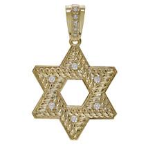 0.50 Carat Round Cut Diamond Star of David Pendant 14K Yellow Gold - $1,187.01