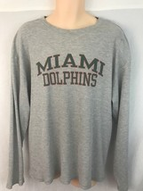 Reebok Miami Dolphins Mens XL Shirt Long Sleeve Waffle Thermal Knit Gray - €12,69 EUR