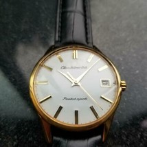 Mens Citizen Homer Date 36mm Gold-Capped Hand-Wind, c.1960s Vintage Y96 - $960.09