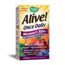 Nature's Way Alive! Once Daily Women's 50+ Multivitamin, Ultra Potency, Food-Bas