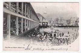 Steel Pier Beach Atlantic City New Jersey 1906 postcard - $5.45