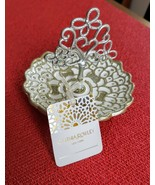 Cynthia Rowley New York Enamel on Metal Flower Heart Tree Ring Jewelry Dish - $14.99