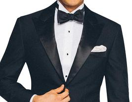 2 Piece Mens Slimfit Midnight Blue Wedding Tuxedo image 2