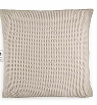 Hotel Collection Waffle Weave Euro Pillow Sham Natural Ribbed Netting De... - $37.99