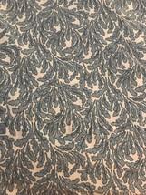 Ralph Lauren Twin Flat Sheet Blue Leaf on White Pattern 100% Cotton  - $28.71
