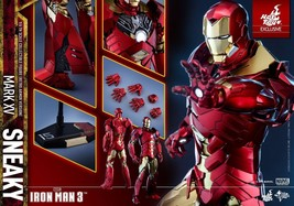 HOT TOYS 1/6 MARVEL IRON MAN 3 MMS396 MARK XV MK15 SNEAKY RETRO ARMOR VE... - $731.94