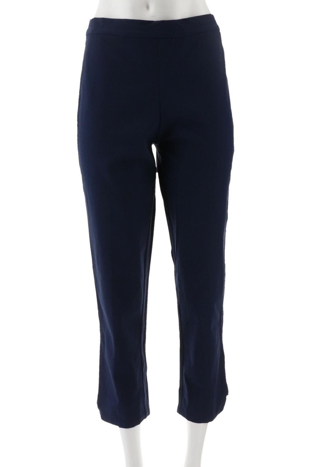 Isaac Mizrahi 24//7 Denim 5-Pocket Ankle Jeans Zip Bright White 8P NEW A290887