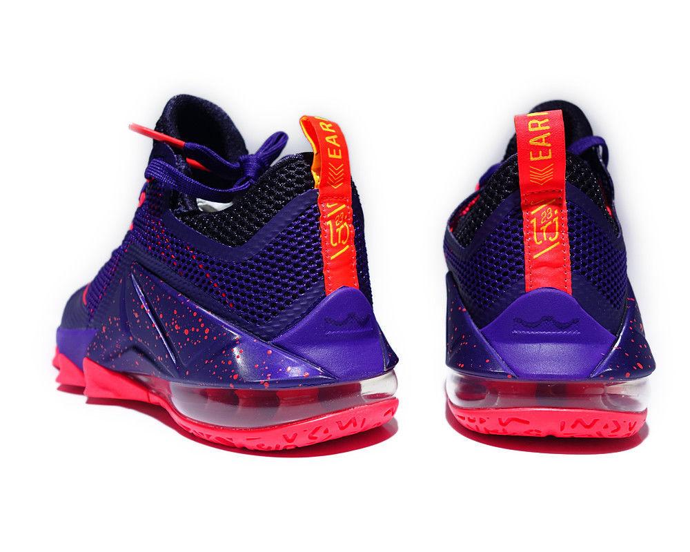 Nike Lebron XII Low Raptors Court Purple Bright Crimson 724557-565 Mens 9 image 5
