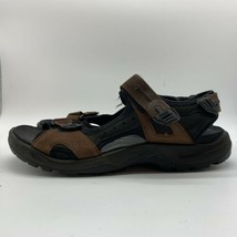 ECCO Yucatan Brown Black Leather Sport Sandals Women EUR 48 - $34.65