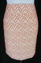 J Crew Skirt size 0 Burnt Orange Tweed Geometric Pencil Straight Knee Slim - $39.97