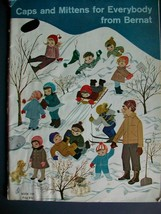 Knitting Caps and Mittens for Everybody Bernat Handicrafter Guide Book 1... - $9.89