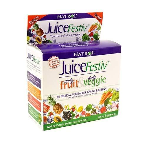 Natrol Juicefestiv Capsules, A Simpler Way to get Your Daily Fruits & Veggies, A