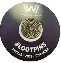 Westworld Maze Pin - Loot Crate January 2018 - $7.43