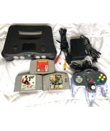 ☆ Nintendo 64 Console System Bundle (NTSC) W/ 3 Games Lot - Tested Works ☆ - $79.99