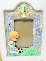 Precious Moments 351202 Boy Soccer Player Photo Frame 1997 - $14.24