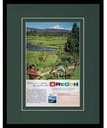 1961 Oregon Travel Tourism Framed 11x14 ORIGINAL Vintage Advertisement - $41.71