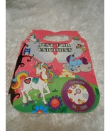New Just for Unicorns handle coloring book w/ over 100 stickers all kids - $5.79