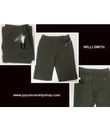 Women's Willi Smith Linen Army Green Bermuda Shorts Sz 8 - $12.99