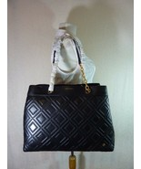 NWT Tory Burch Black Fleming Triple Compartment Shoulder Tote - $473.20