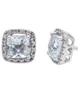 1.30ct Green Amethyst & Diamond Earrings - $322.97