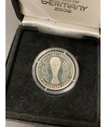 World Cup Silver Coin Germany 2006 FIFA Fussball Weltmeisterschaft Deuts... - $68.91