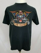 Harley-Davidson Motorcycles Mens Large 100 Years Black T-Shirt Eagle S/S... - $17.99