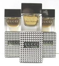 3 Pc LOT- GUCCI POUR HOMME (0.17oz Each) Eau De Toilette SPLASH MINI {Ve... - $53.95