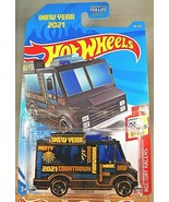 2021 Hot Wheels #48 Holiday Racers-2021 New Years 3/5 QUICK BITE Black w... - $7.20