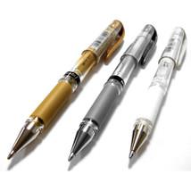 Uni-Ball Signo UM-153 Pen Broad Metallic Gel Rollerball White Gold Silve... - $3.31+