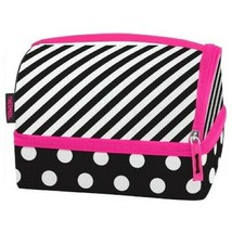 NEW Thermos Stripe & Dots Insulated Lunch Box Kit Pack-in Container Fork Spoon