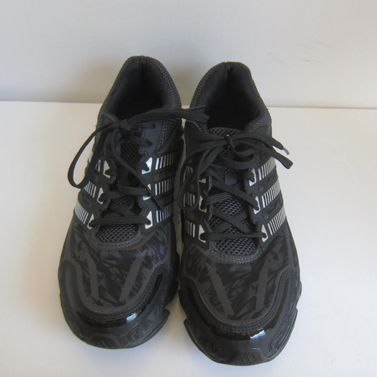 online retailer a68a8 74b62 C-1347 New Adidas Black Nylon Adiprene + Sneakers Shoes Size US 8
