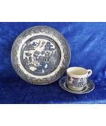 Churchill Classic Blue Willow 3-Piece Ironstone Place Setting from Herit... - $14.49