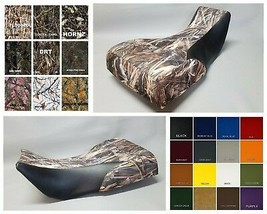 Yamaha Grizzly 700 Seat Cover 2-tone DRT CAMO w/ Black sides Marine Vinyl - $27.95