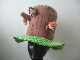 Rare! Tokyo Disneyland limited Chip & Dale Tree Hat cap Cosplay Event Halloween - $155.43