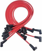 SBC CHEVY 283 327 383 SUPER HEI Distributor 8mm SPARK PLUG WIRES UNDER EXHAUST image 6