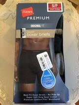 Hanes Premium Original Fit 4 Pack Tagless Boxer Briefs Size Small - $13.81