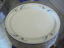 Lenox Poppies on Blue 14 1/2 inch oval platter 3 available - $45.74
