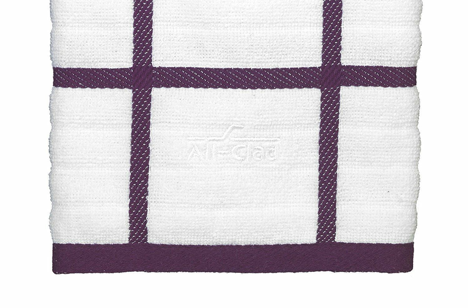 All-Clad Textiles 100-Percent Combed Cotton Kitchen Towel Oversized Plum
