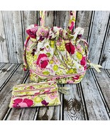 Vera Bradley Make Me BlushGlenna Satchel Drawstring Hand Bag Wallet Purse  - $55.43
