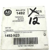 BOX OF 12 NEW ALLEN BRADLEY 1492-N23 TERMINAL BLOCK END ANCHORS SER. D, 1492N23