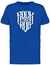 An item in the Fashion category: Rock & Roll Wavy Logo Men's Tee -Image by Shutterstock